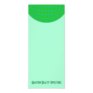 Bright Green Global Business 10 Cm X 24 Cm Invitation Card