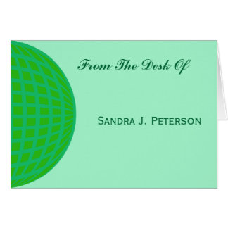 Bright Green Global Business Card