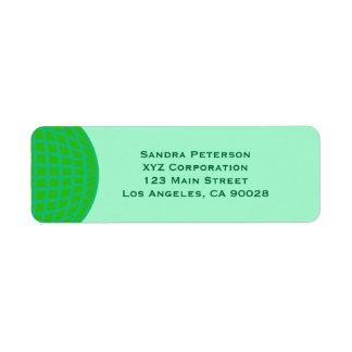 Bright Green Global Business Return Address Label