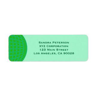 Bright Green Global Business Return Address Label