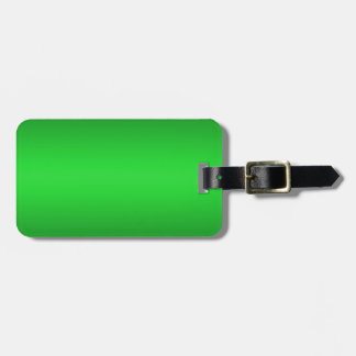 Bright Green Gradient - Emerald Greens Template B Luggage Tag