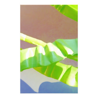Bright Green Leaves. 14 Cm X 21.5 Cm Flyer