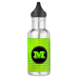 Bright Green LED Pattern Custom Monogram 532 Ml Water Bottle