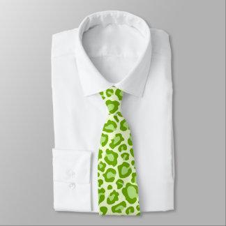 Bright Green Leopard Print Neck Tie