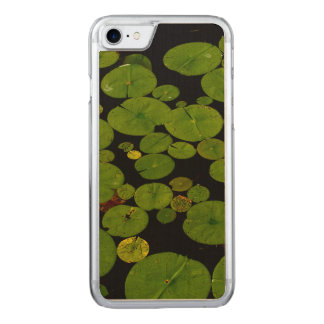 Bright green lily pads carved iPhone 8/7 case