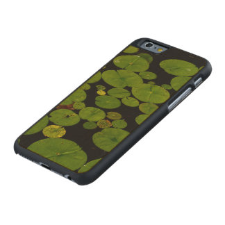 Bright green lily pads carved® maple iPhone 6 case