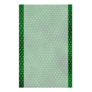 Bright Green Lizard Skin Scales Stationery
