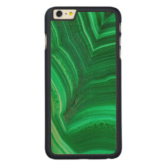 Bright green Malachite Mineral Carved® Maple iPhone 6 Plus Case