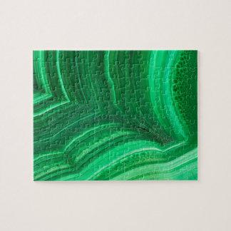 Bright green Malachite Mineral Jigsaw Puzzle