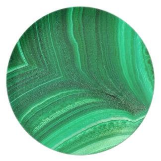 Bright green Malachite Mineral Plate