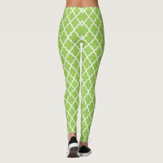 Bright green Moroccan Pattern Leggings