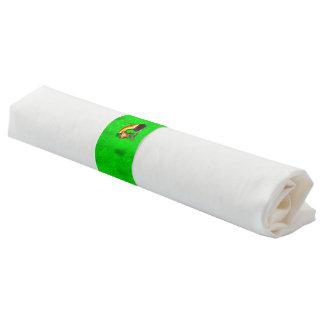 Bright green napkin band