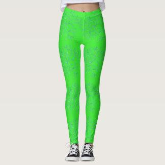 Bright Green Neuron Leggings