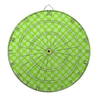 Bright Green Polka Dots Dartboard