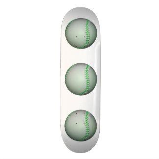 Bright Green Stitches Baseball Skate Board Decks