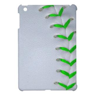 Bright Green Stitches Baseball / Softball Cover For The iPad Mini