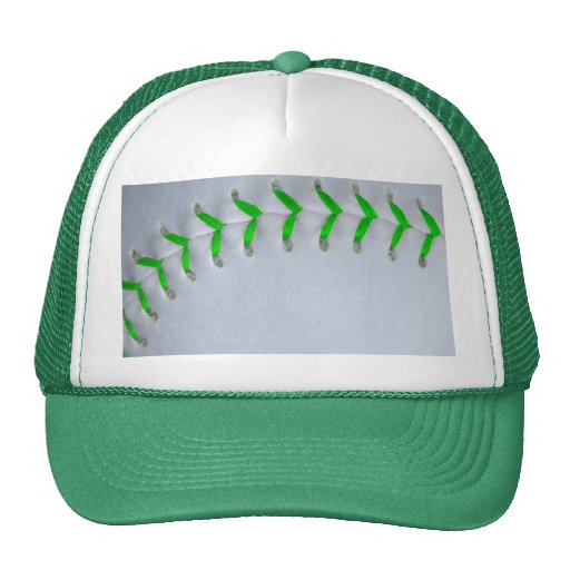 Bright Green Stitches Baseball / Softball Trucker Hat