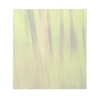 Bright Green Summer Abstract Notepad