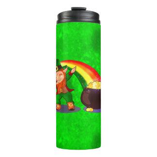 Bright green thermal tumbler