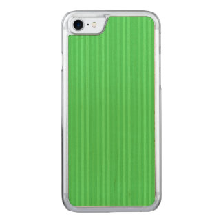 Bright Green Vertical Stripes Pattern Carved iPhone 7 Case