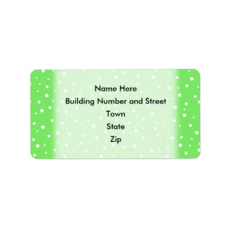 Bright Green with White Dots Pattern Address Label