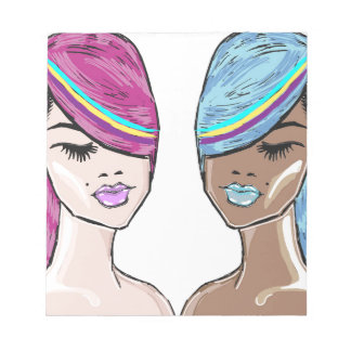 Bright Hair Model Sketch Notepad