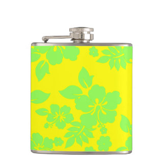Bright Hawaiian Hip Flask