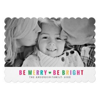 Bright Hearts Holiday Photo Card