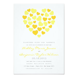 Bright Hearts Wedding Invitation