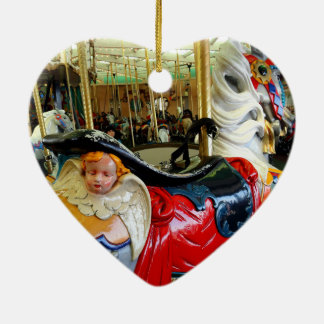 Bright Horse. Ceramic Heart Decoration