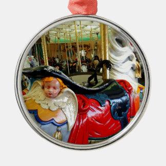 Bright Horse. Silver-Colored Round Decoration