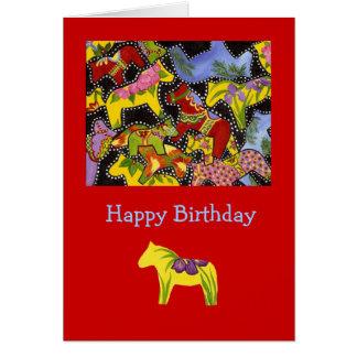 Bright Horses Birthday Card