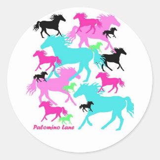 Bright Horses Round Sticker