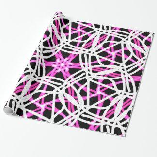 Bright, Hot Pink Kalieidoscope Pattern Wrapping Paper