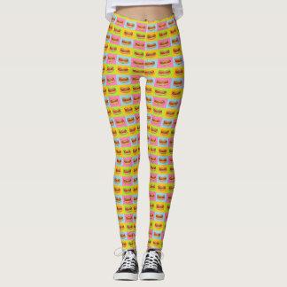 Bright hotdogs design leggings