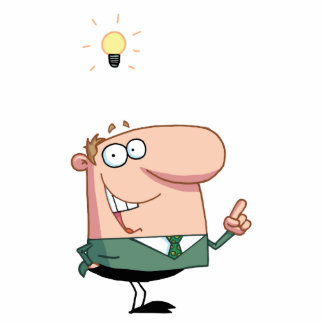 Bright Idea Business Man Standing Photo Sculpture