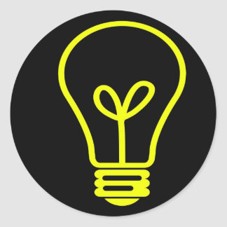 Bright Idea Round Sticker