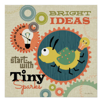 Bright ideas: firefly robot poster