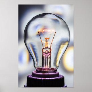 Bright Ideas Light Bulb Poster