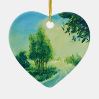 bright imagination ceramic heart decoration