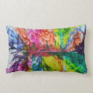 Bright Inky Colors Lumbar Cushion