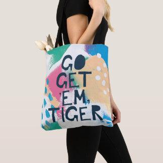Bright Inspiration II   Go Get 'Em Tiger Tote Bag