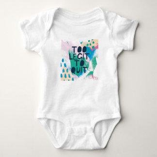 Bright Inspiration III   Too Legit To Quit Baby Bodysuit
