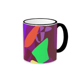 Bright Irregular Forms 3 Ringer Mug
