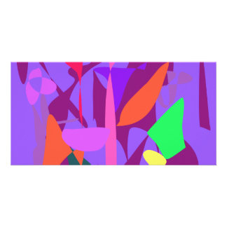 Bright Irregular Forms Picture Card