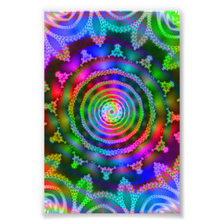 Bright Kaleidoscope Photo Print