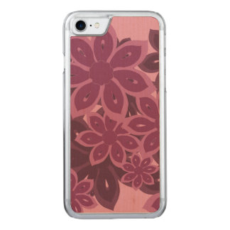 Bright Kanzashi Floral Carved iPhone 7 Case