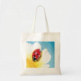 Bright ladybug tote bag