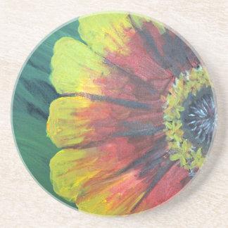 Bright large flower design coasters