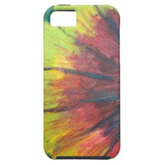 Bright large flower design iPhone 5 cases